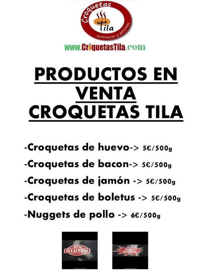 Productos de Venta en Croquetas Tila